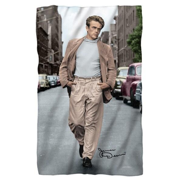 Dean/Colorful Walk Fleece Blanket in White 19697940