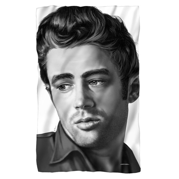 Dean/Stare Fleece Blanket in White 19697975