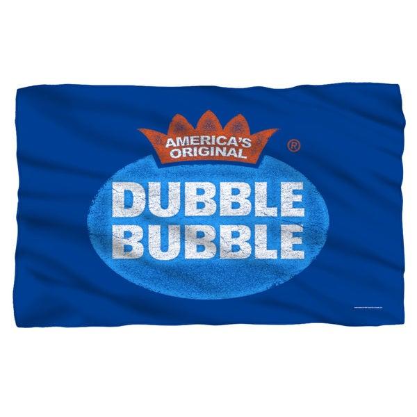 Dubble Bubble/Vintage Logo Fleece Blanket in White 19697976