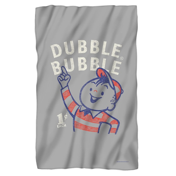 Dubble Bubble/Pointing Fleece Blanket in White