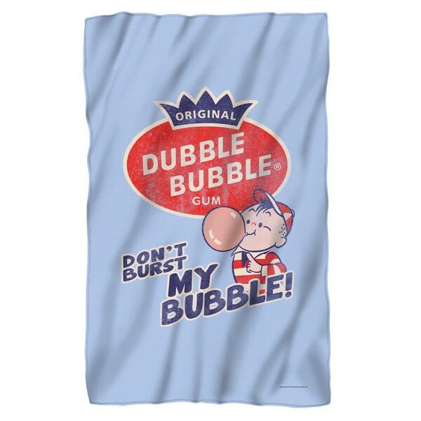 Dubble Bubble/Burst Bubble Fleece Blanket in White 19697982