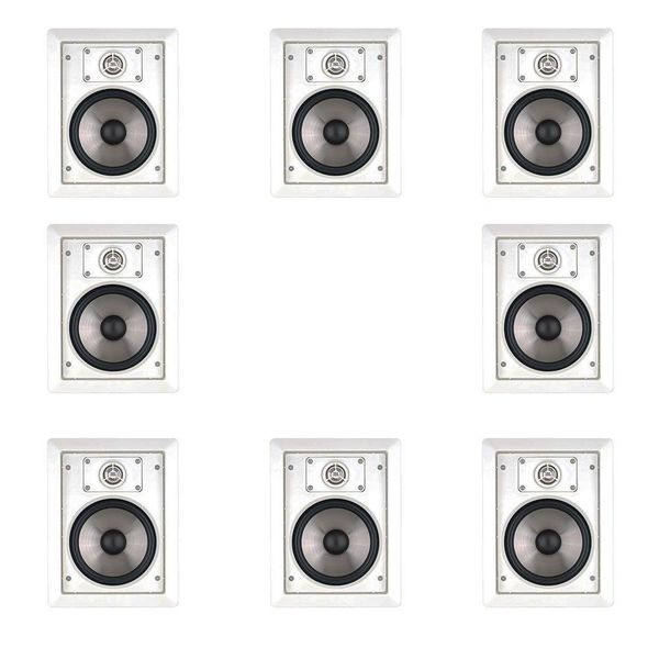 8 JBL SP6II Surround Sound In-wall Speakers