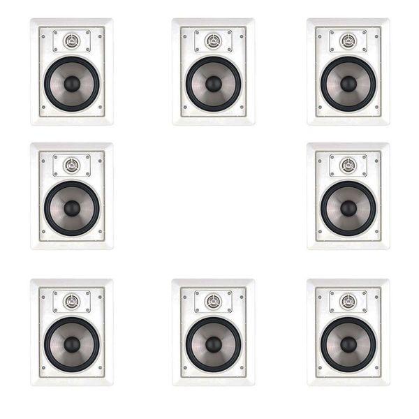 8 JBL SP6II Surround Sound In-wall Speakers