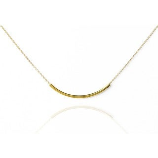 Mint Jules Dainty 18k Gold Dipped Tube Layering Necklace 18""