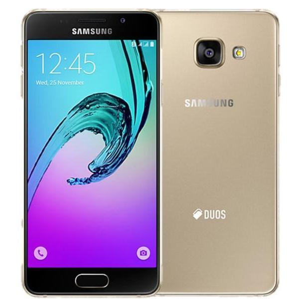 Samsung Galaxy A7 (2016) Duos SM-A7100 Gold International-version 16GB Dual -SIM Unlocked GSM Smartphone (No Warranty)
