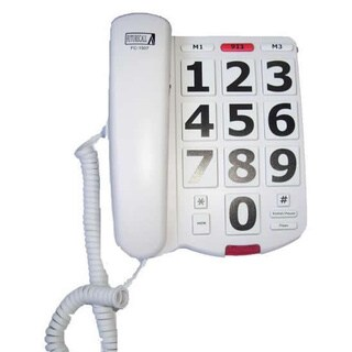 Future Call White Amplified Big Button Phone with Handset Volume Control