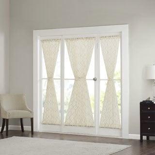 Madison Park Iris Diamond Sheer Door Curtain Panel 4-Color Option