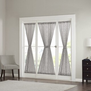 Madison Park Warner Iris Diamond Sheer Sidelight Curtain Panel 4-Color Option