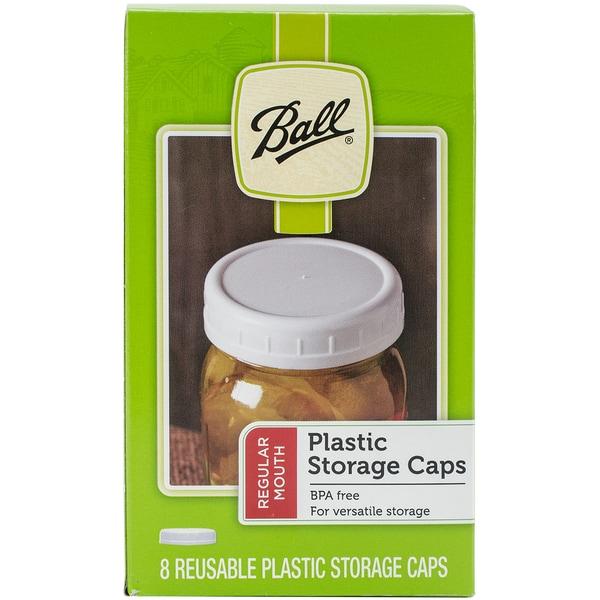 Ball Plastic Storage Caps 8/Pkg