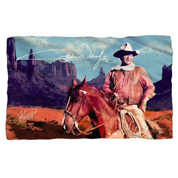 John Wayne/Monument Man Fleece Blanket in White