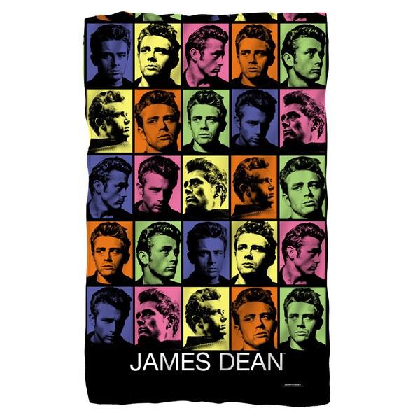 James Dean/Color Block Fleece Blanket in White 19699200