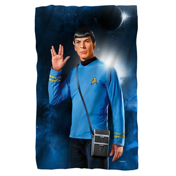Star Trek/Spock Fleece Blanket in White