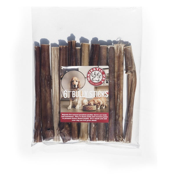 "Majestic Pet All Natural 6"" Bully Stick Dog Chew & Treat Healthy"