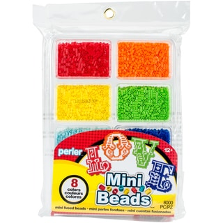 Perler Mini Beads Fused Bead Tray 8,000/Pkg
