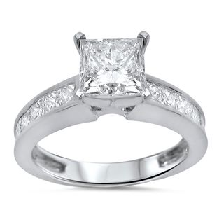 Noori 14k White Gold 1 7/8ct TDW Diamond Engagement Ring (G-H, SI1-SI2)