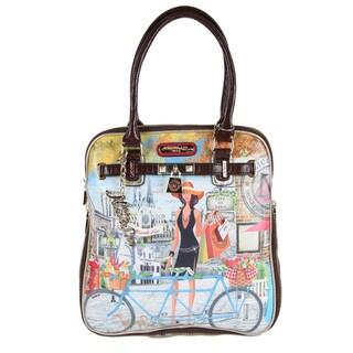 Nicole Lee Kimbriella Bicycle-print Hobo Handbag