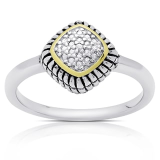 Finesque Sterling Silver Diamond Accent Ring (I-J, I2-I3)
