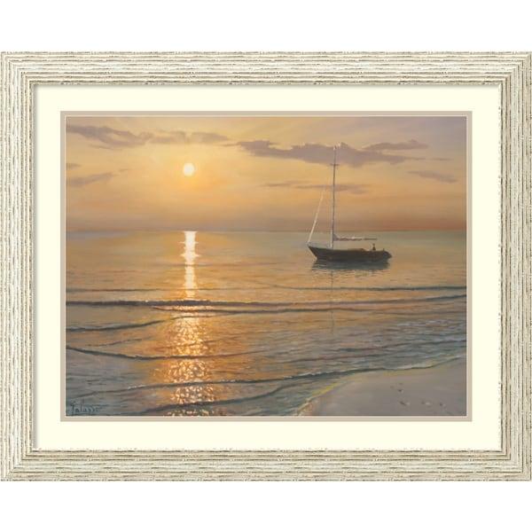 Framed Art Print 'Mattino sul mare (Sailboat)' by Adriano Galasso 32 x 26-inch