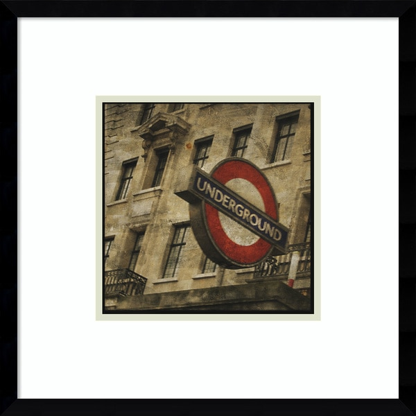 Framed Art Print 'Underground' by John W. Golden 19 x 19-inch