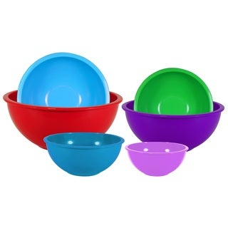 6-piece Polypropylene Mixing Bowl Set