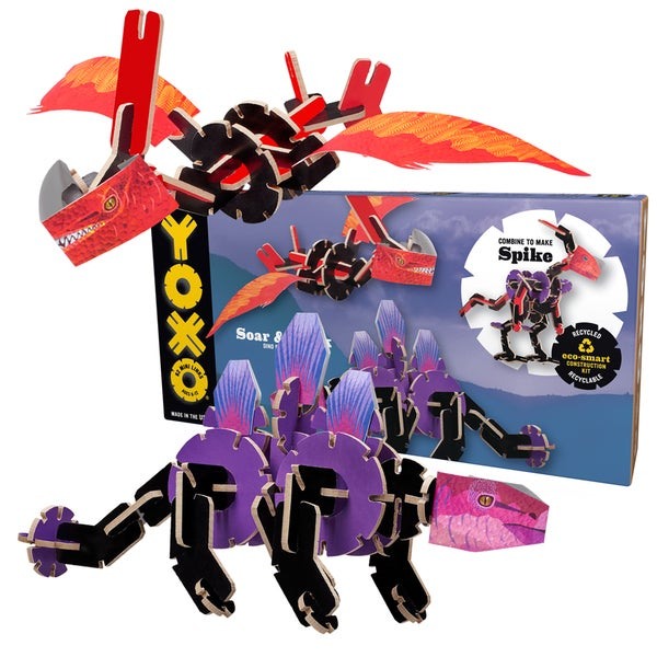 YOXO Soar and Brick Dual Dino Kit