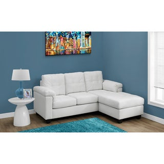 White Bonded Leather Sofa Lounger