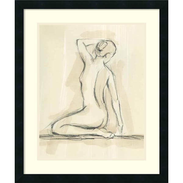 Framed Art Print 'Neutral Figure Study IV: Nude' by Ethan Harper 22 x 26-inch