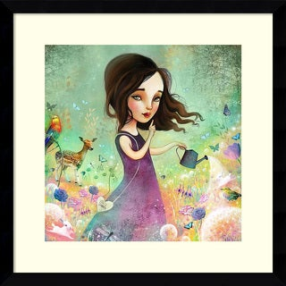 Framed Art Print 'Her Secret Garden Grows' by Meluseena 17 x 17-inch