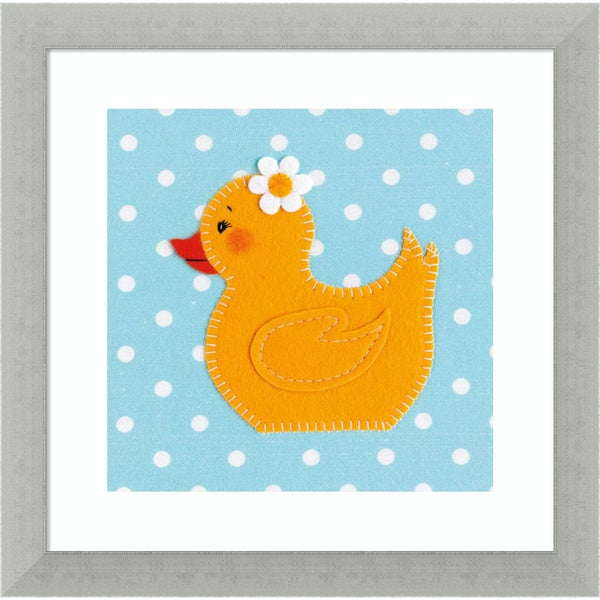 Framed Art Print 'Daisy Duck' by Catherine Colebrook 12 x 12-inch