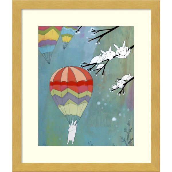 Framed Art Print 'Madly Wonderful Rabbits' by Kristiana Parn 12 x 14-inch