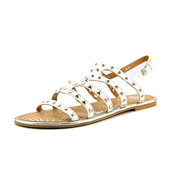Yellow Box Women's 'Maikin' White Faux Leather Sandals