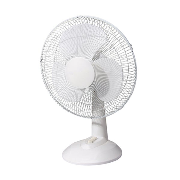 Energy Efficient White Metal Oscillating Quiet Speed Desk Fan