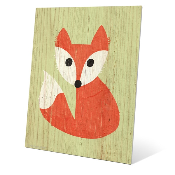 'Little Fox Summer' Wall Graphic on Metal