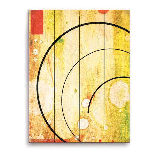 'Cosmic Rays' Wood Wall Graphic