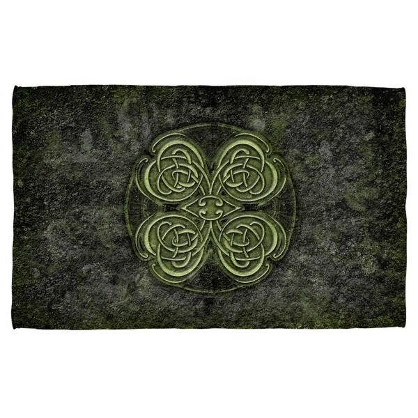 Celtic Clover Polyester Beach Towel