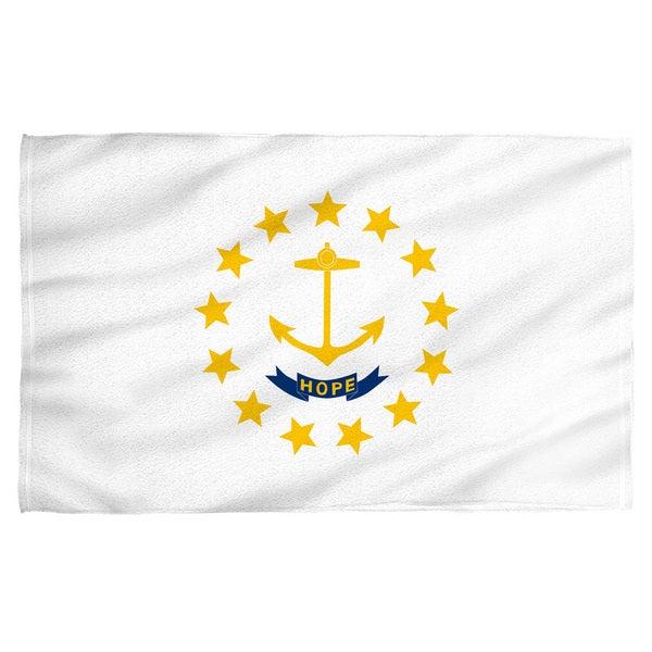 Rhode Island Flag Polyester Beach Towel