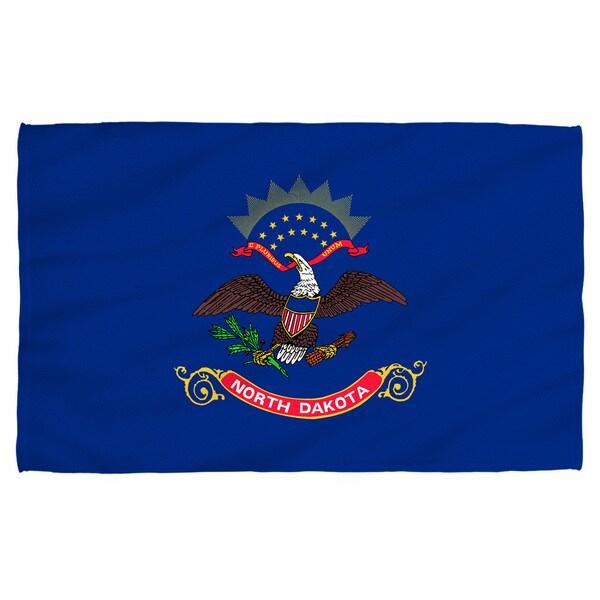 North Dakota Flag Polyester Beach Towel