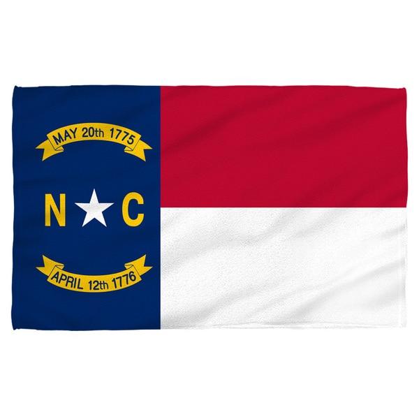 North Carolina Flag Polyester Beach Towel