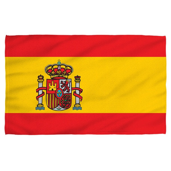 Spain Flag Polyester Beach Towel