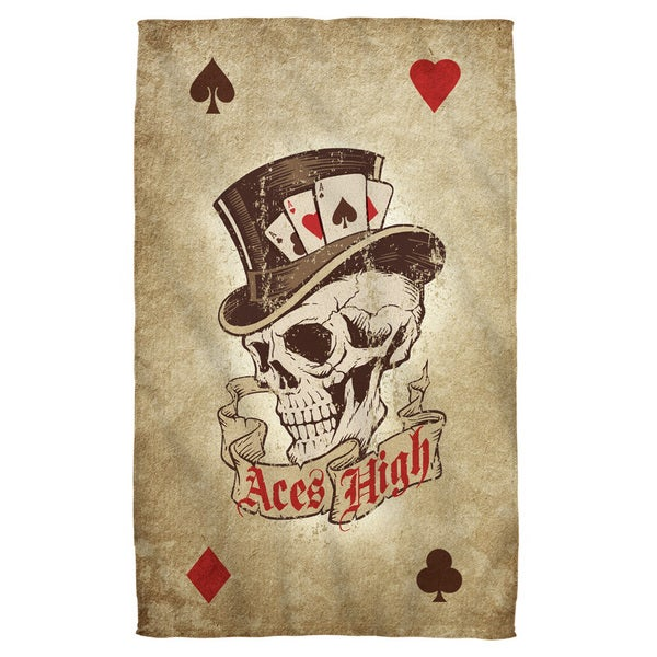 Aces High Polyester Beach Towel