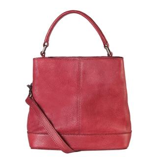 Diophy 150233 Top-handle Genuine Leather Tote Handbag