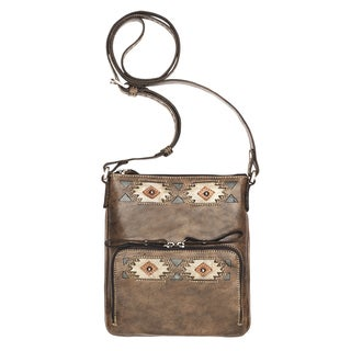 American West Native Sun Crossbody Wallet Bag
