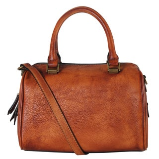 Diophy 160419 Doctor-style Genuine Leather Zipper Closure Tote Handbag