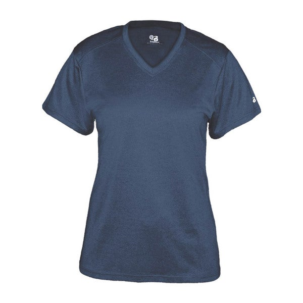 Pro Heather Women's Short Sleeve V-neck Performance Navy T-shirt 19713159