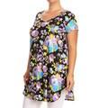 Women's Plus-size Floral Tunic