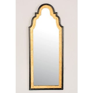 Black Grooved Frame Long Wall Mirror 10426316