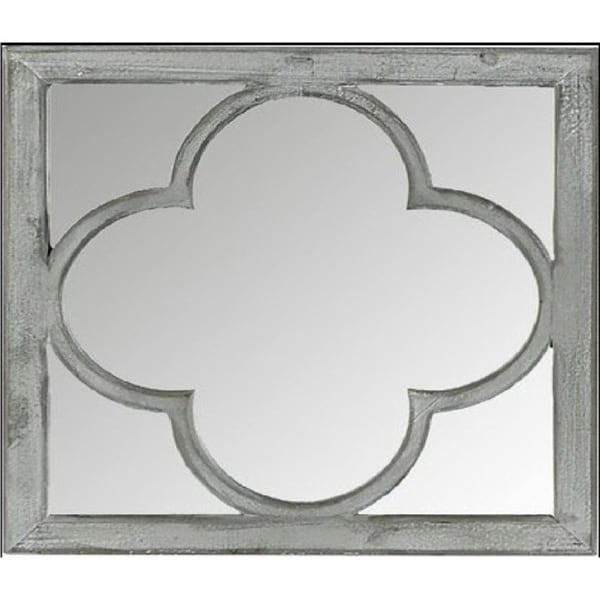 Dominique Grey Wood/Glass Wall Mirror