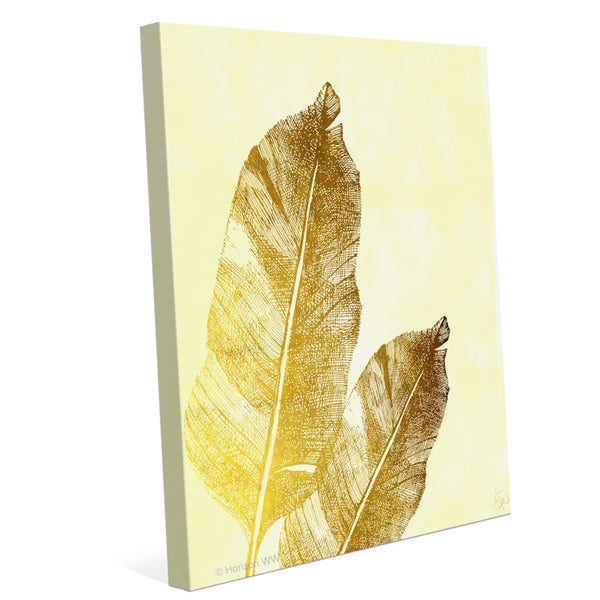 'Tropical Leaves on Daffodil' Canvas Wall Graphic