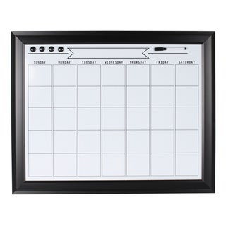 DesignOvation Bosc Framed Magnetic Dry Erase Monthly Calendar