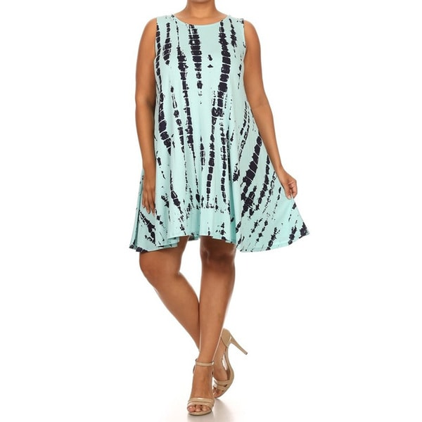 Women's Mint Tie-dye Dress